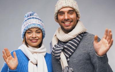 von Paaren mit dem Weihnachtskalender 2018 und 2017